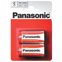 Батарейка PANASONIC Red Zinc C  R14RZ/2BP 1.5 V бочонок маленький, фото 1