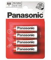 Батарейка PANASONIC Red Zinc AA  R6RZ/4BP 1.5 V пальчик, фото 1