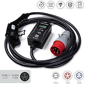 OnCharger Type1 32A 7kW NFC WiFi УЗО Зарядное устройство для электромобиля OC1M-32A-J1772