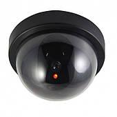 Муляж купольной камеры видеонаблюдения с красным диодом обманка UKC черная