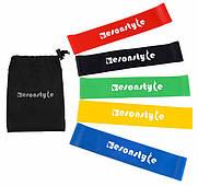 Набір спортивних гумок для фітнесу йоги гумові стрічки Esonstyle Комплект з 5 штук
