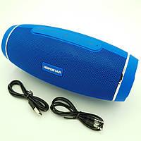 Беспроводная аккумуляторная колонка Bluetooth акустика FM MP3 AUX USB Hopestar H27 синий, фото 1