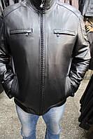 Куртка кожаная мужская FT-69 Черн Зик