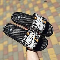 Мужские шлепанцы в стиле Nike Just Do IT, черно-белые 44(28,5 см), последний размер