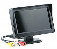 """Монитор автомобильный для двух камер UKC TFT LCD 4,3"""" черный, фото 1"""