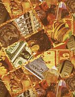 """Подарочная бумага для упаковки подарков """" Деньги, золото """" 707х1000 мм"""