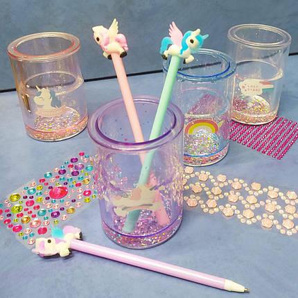 Подставка для ручек с плавающими блёстками, фото 2