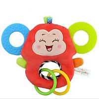 Мягкая игрушка - прорезыватель Счастливая обезьянка Happy Monkey
