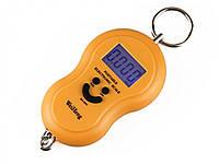 Весы электронные безмен кантер до 40кг точность 10гр Smile желтый, фото 1