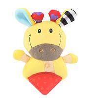 Мягкая игрушка - прорезыватель Желтая коровка Dolery