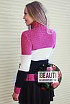 Триколірний жіночий светр 44-48, фото 2