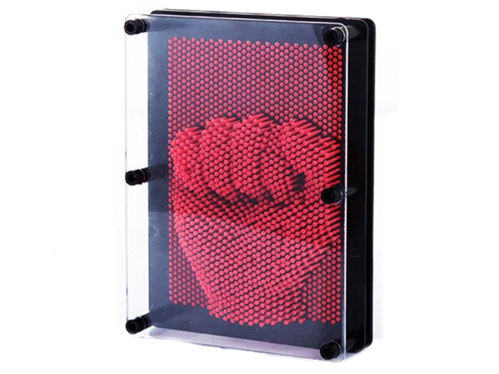 3D игрушка антистресс гвозди скульптор Pinart Отпечаток руки красный