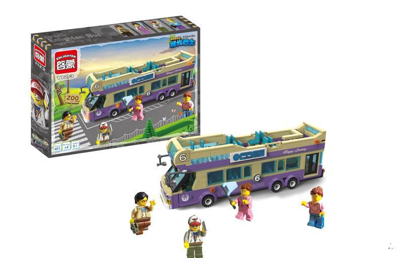 """Детский конструктор Brick 1123 """"Экскурсионный автобус"""", Конструктор Брик"""