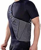 Мужская сумка через плечо Кросс боди Cross body серая