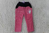 Утепленные вельветовые брюки на флисе 1- год