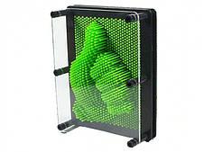 3D игрушка антистресс гвозди скульптор Pinart Отпечаток руки зеленый