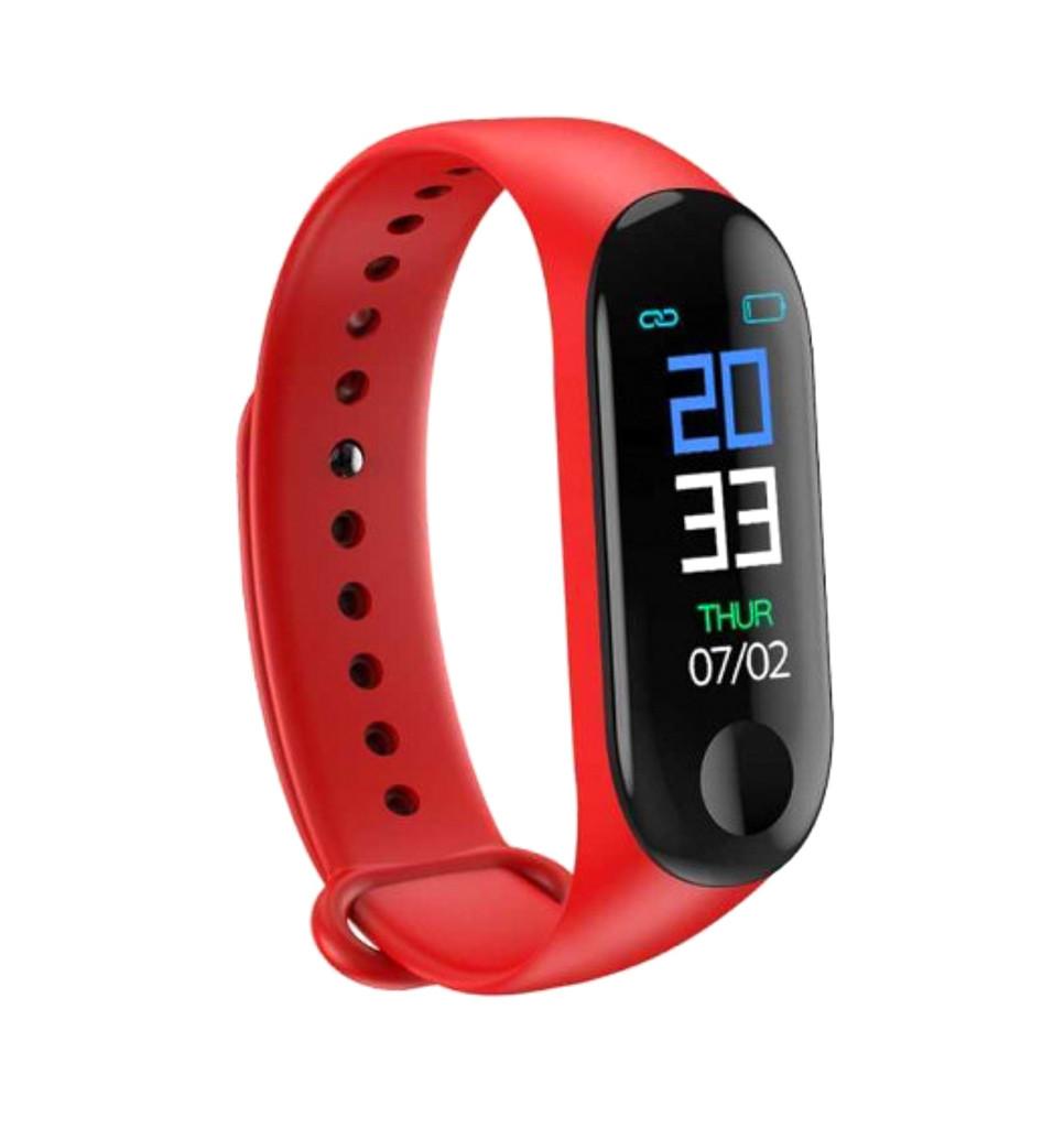 """Фитнес браслет умный трекер цветной экран 0.78"""" UKC M3 Fit USB Smart Bracelet красный"""