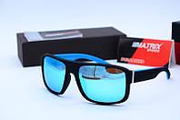 Мужские солнцезащитные прямоугольные очки Matrix 035 голубые