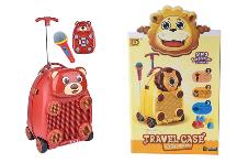 Детский чемодан Медвежонок с микрофоном и на пульте управления