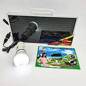 Портативный походный набор Солнечная панель с LED лампочкой и аккумулятором для зарядки гаджетов 3,5 W 6 V SunAfrica