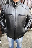 Куртка кожаная мужская F-T-67 Черный Зик