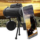 Монокуляр з затиском для телефону Тринога Чохол Panda 35x50