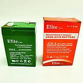 Аккумулятор для торговых весов фонарей светильников 6V 6A Elite Lux 3FM6