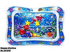 Водяной коврик с рыбками развивающий 65х45см синий