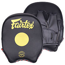 Лапы боксерские Fairtex, черно-золотистые (FMV14)