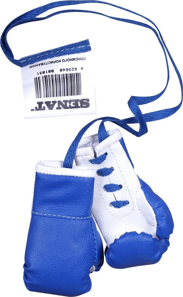 Сувенірні боксерські рукавички Senat, синьо-білі (1031-bl/wht)