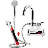 Проточный водонагреватель с душем электрический нагреватель бойлер Делимано 3000 Вт Delimano