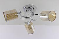 Люстра потолочная на 3 лампочки (20х51х51 см.) Хром или золото YR-9236B/3-ch