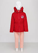 Зимняя детская куртка Charmmy kitty на девочку 116-120 см 6 лет Красная 8170121-6, КОД: 1452570