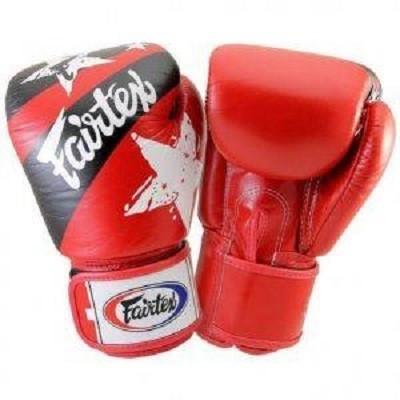 Боксерские перчатки FAIRTEX  BGV1 Red Nation 10 унций