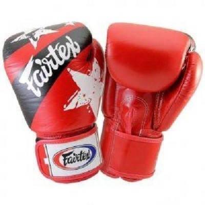 Боксерские перчатки FAIRTEX  BGV1 Red Nation 10 унций, фото 2