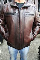 Куртка кожаная мужская 77031/F.ARIS Коричневый