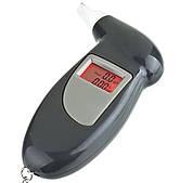 Персональный алкотестер цифровой с подсветкой и 4 мундштуками Digital Breath Alcohol Tester