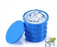 Форма для заморозки льда двухкамерная с крышкой и охлаждение бутылок Ice Cube Maker, фото 1