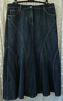 Юбка женская джинс макси бренд Austin Reed р.48 3724а