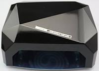 LED Лампа для ногтей маникюра Сушилка гибридная УФ LED+CCFL 36W UKC черная, фото 1