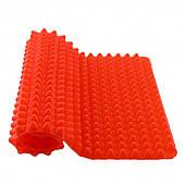 Силиконовый коврик для запекания выпечки антипригарный Пирамидка 30х40х1.5 см Pyramid Pan красный