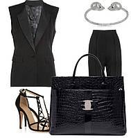 Женская стильная офисная повседневная сумка для роботы лакированая кожа