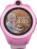 Умный смарт часы детские с телефоном и Gps трекером Wifi smart watch Q610 Kid розовые