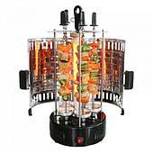 Электрошашлычница шашлык дома 6 шампуров 1000 Вт DOMOTEC BBQ GH-8612