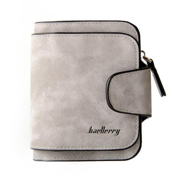 Женский замшевый кошелек портмоне бумажник клатч Baellerry Forever Mini 2346 серый