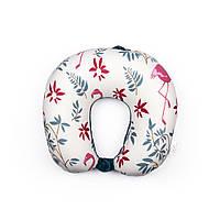 Подушка для путешествий Usupso Фламинго Белый с принтом MYK110-15, КОД: 1766731