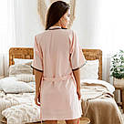 Халат жіночий з поясом мерехтливої кольору, фото 3