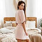 Халат жіночий з поясом мерехтливої кольору, фото 2