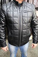 Куртка кожаная мужская 522 черный