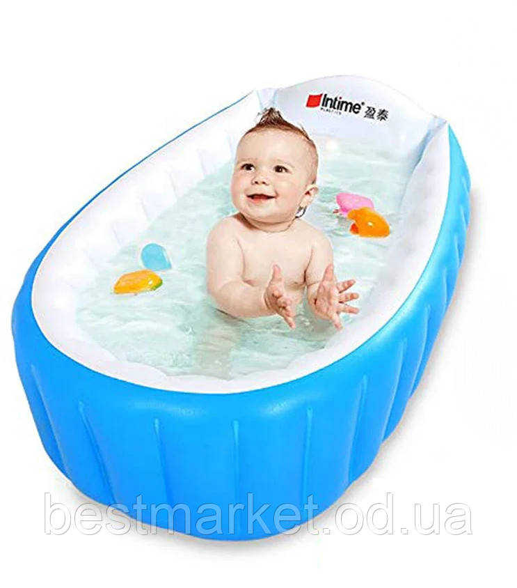 Ванночка Дитяча Надувна Intime Baby Bath Tub Синя